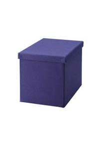 ! Картонная коробка обтянутая синей тканью - Подарочная упаковка для DVD/CD !