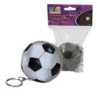 Игрушка подвеска светоотражающая Футбольный мяч