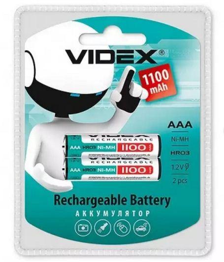 Аккумулятор  VIDEX R-03 1100 mA 2бл.20